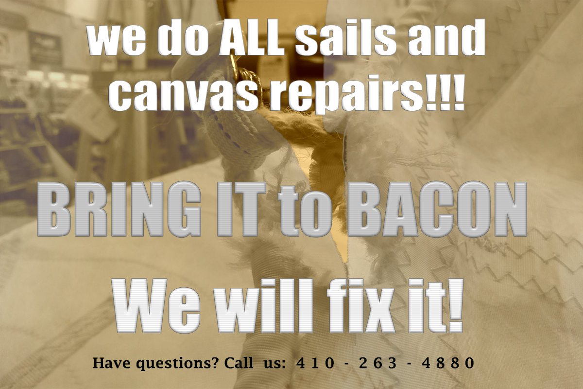 We do all canvas and sail repairs